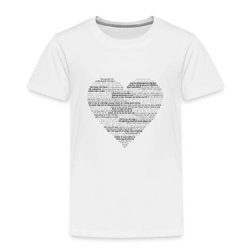Love - Black 1 - Premium-T-shirt barn