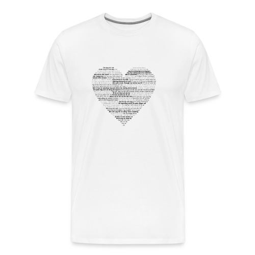 Love - Black 1 - Premium-T-shirt herr