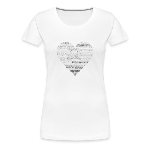 Love - Black 1 - Premium-T-shirt dam