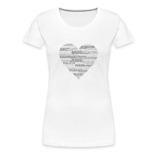 Love - Black 1 - Premium-T-shirt dam