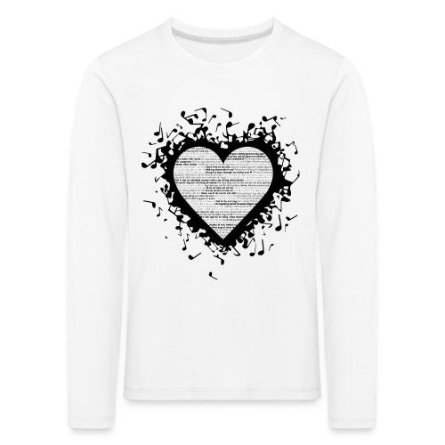 Love - Black 2 (barn) - Långärmad premium-T-shirt barn