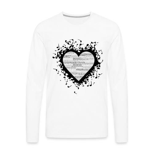 Love - Black 2 - Långärmad premium-T-shirt herr