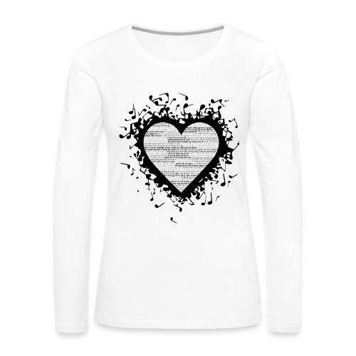 Love - Black 2 - Långärmad premium-T-shirt dam