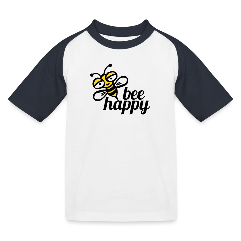 Be happy as a child bee - Kids' Baseball T-Shirt