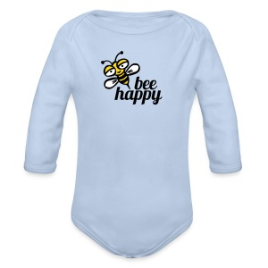 Be happy as a bay bee - Organic Longsleeve Baby Bodysuit