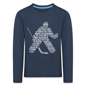 Hockey Goalie Typography Children's Long Sleeve T-Shirt - Kids' Premium Longsleeve Shirt