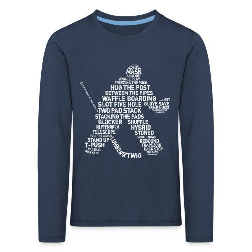 Hockey Goalie Typography Children's Long Sleeve T-Shirt - Kids' Premium Longsleeve Shirt