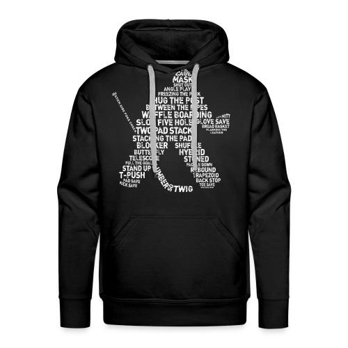 Hockey Goalie Typography Men's Hoodie - Men's Premium Hoodie