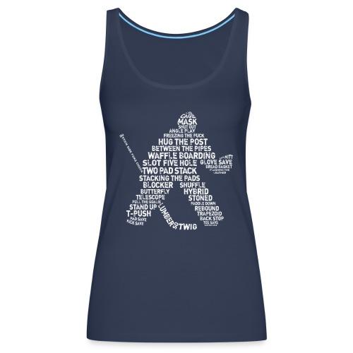Hockey Goalie Typography Women's Vest Top - Women's Premium Tank Top