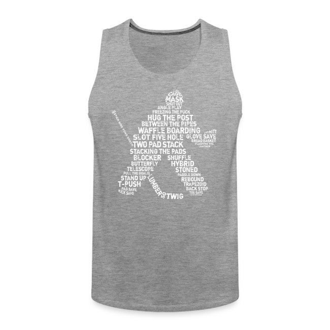 Hockey Goalie Typography Men's Vest Top