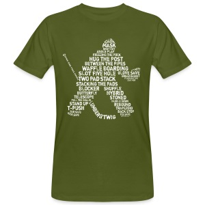 Hockey Goalie Typography Men's Organic T-Shirt - Men's Organic T-shirt