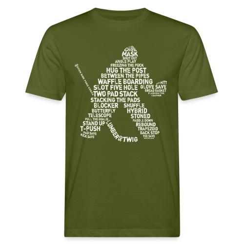Hockey Goalie Typography Men's Organic T-Shirt - Men's Organic T-Shirt