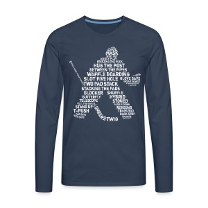 Hockey Goalie Typography Men's Long Sleeve T-Shirt - Men's Premium Longsleeve Shirt