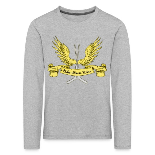 Who Saves Wins Hockey Goalie Children's Long Sleeve T-Shirt - Kids' Premium Longsleeve Shirt