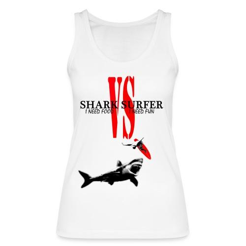 T-shirt Femme Shark Vs Surfer - Débardeur bio Femme