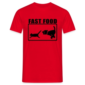 T-shirt Fast Food. - T-shirt Homme