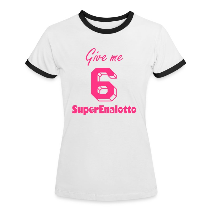 Charly's Line - Give me 6 - women - Frauen Kontrast-T-Shirt