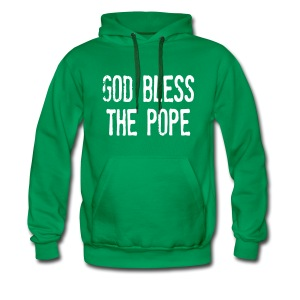 GOD BLESS THE POPE - Men's Premium Hoodie