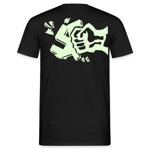 Smash Nazis T-Shirt Nachtleuchtend - Männer T-Shirt