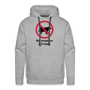 NO MEAT ON A FRIDAY - Mannen Premium hoodie