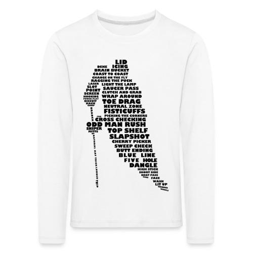Hockey Player Typography Children's Long Sleeve T-Shirt - Kids' Premium Longsleeve Shirt