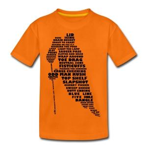 Hockey Player Typography Teenager's T-Shirt - Teenage Premium T-Shirt