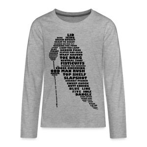 Hockey Player Typography Teenager's Long Sleeve T-Shirt - Teenagers' Premium Longsleeve Shirt