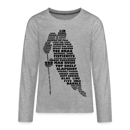 Hockey Player Typography Teenager's Long Sleeve T-Shirt - Teenagers' Premium Longsleeve Shirt