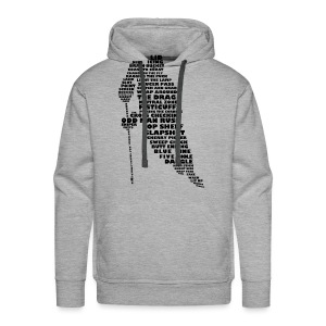 Hockey Player Typography Men's Hoodie - Men's Premium Hoodie