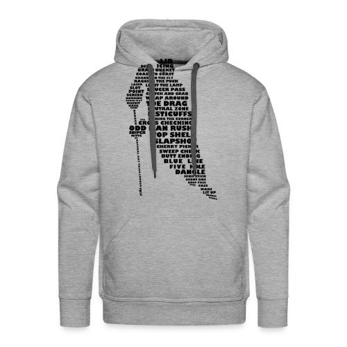 Hockey Player Typography Men's Hoodie - Men's Premium Hoodie