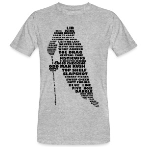 Hockey Player Typography Men's Organic T-Shirt - Men's Organic T-shirt