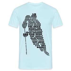 Hockey Player Typography Men's T-Shirt - Men's T-Shirt