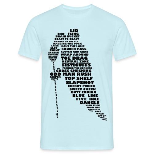 Hockey Player Typography Men's T-Shirt - Men's T-Shirt