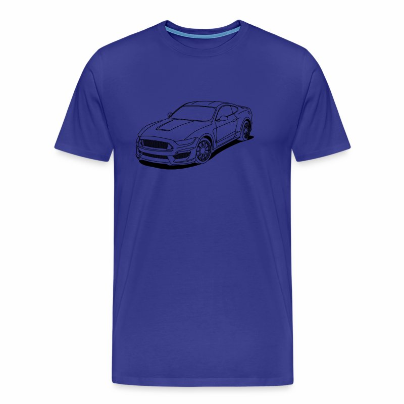 Cool car outlines - Men's Premium T-Shirt