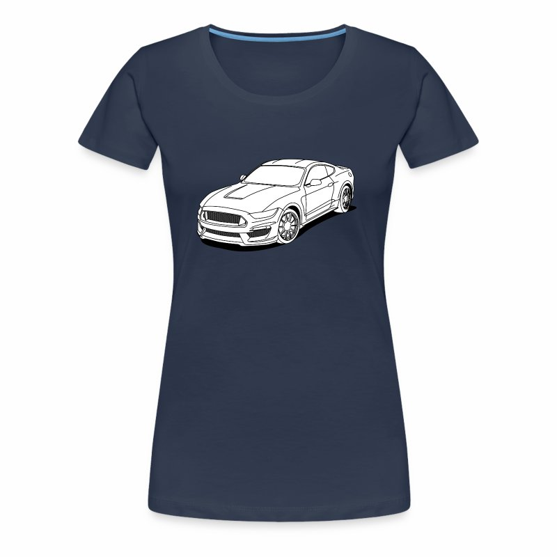 Cool car white - Women's Premium T-Shirt
