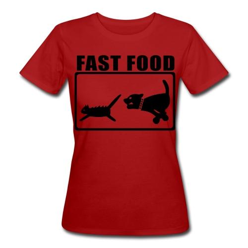 Fast Food - Frauen Bio-T-Shirt