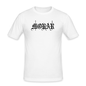 Morar - Logo white - Men's Slim Fit T-Shirt
