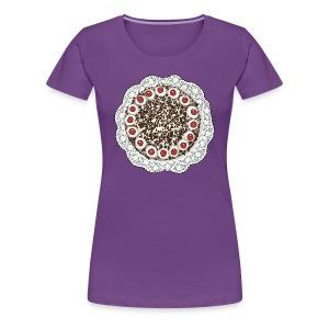 taart op vrouwen tshirt - Women's Premium T-Shirt