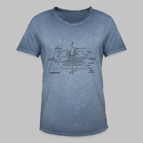 Tshirt Homme Wormhole - Men's Vintage T-Shirt