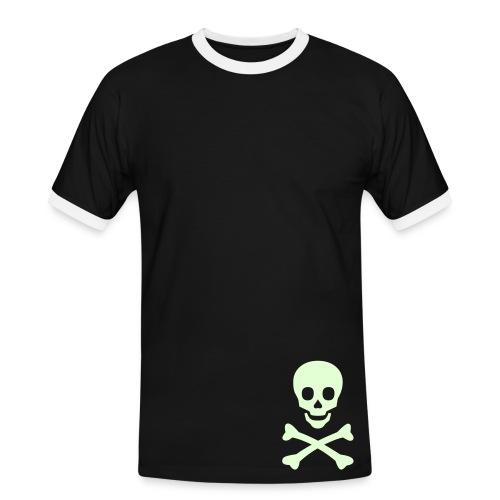 T-shirt tête de mort phosphorescente - T-shirt contrasté Homme
