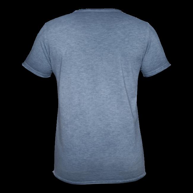 """Männer Vintage T-Shirt """"LeGEndär 1904"""" - washed denim"""