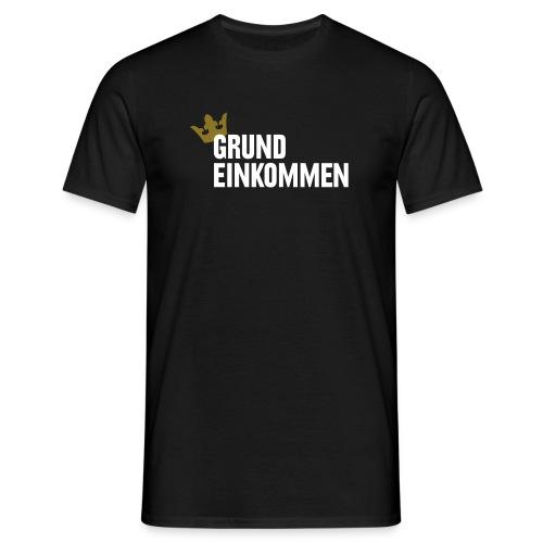 Grundeinkommen, Männer, dunkel - Männer T-Shirt