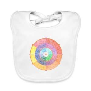 Creativity Rainbow organic cotton bib - Bavaglino
