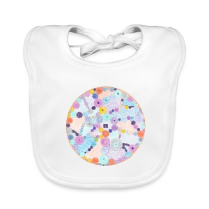 Creativity Relaxing organic cotton bib - Bavaglino