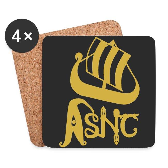 ASNC ship logo coasters