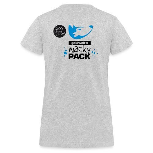 WackyPack Mädels T grau - Frauen Bio-T-Shirt mit V-Ausschnitt von Stanley & Stella