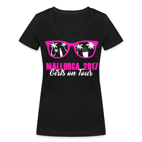 MALLORCA 2017 - Girls on Tour - Frauen Bio-T-Shirt mit V-Ausschnitt von Stanley & Stella