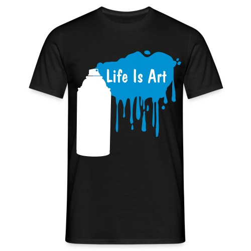Life is art blue - Men's T-Shirt