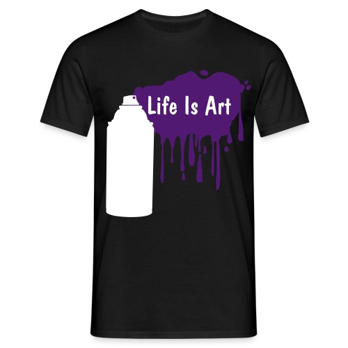 Life is art purple - Men's T-Shirt