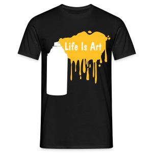 Life is art gold - Men's T-Shirt